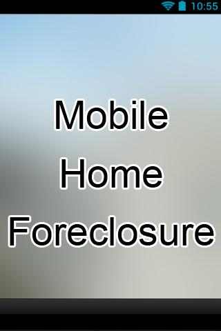 Mobile Home Foreclosure
