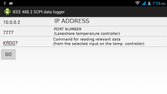 IEEE 488.2 SCPI data logger- screenshot thumbnail