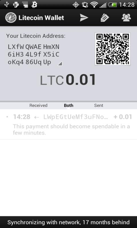 OLD Litecoin Wallet - screenshot