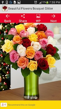 Beautiful Flowers Bouquet Glit Poster