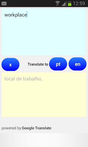 Translate English Portuguese