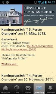 Düsseldorf Business School- screenshot thumbnail