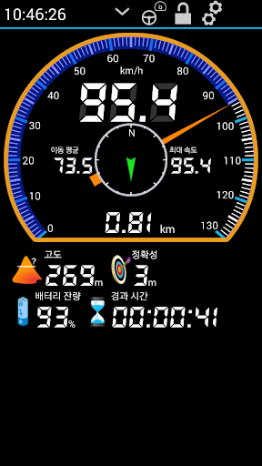 GPS HUD 속도계
