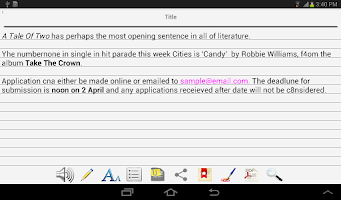 Screenshot of Notebooks