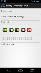 Battery & Memory Status free - screenshot thumbnail