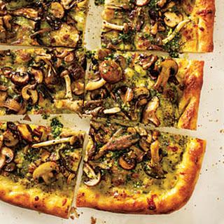 Four-Mushroom Pesto Pizza