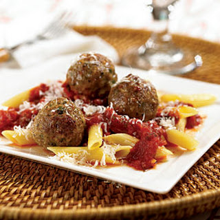 Turkey Meatballs with Penne.