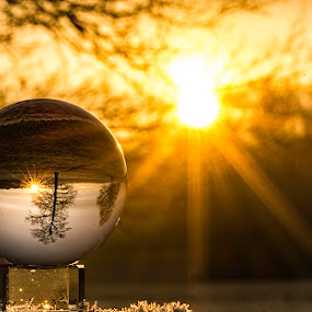sun ball by Romain Bruot - Artistic Objects Still Life ( ball, paysage, crystal, landscape, sun )