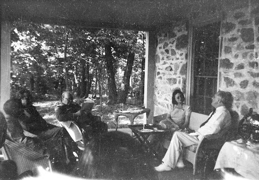 Franklin D. Roosevelt at Hill-Top cottage with Winston Churchill, Mr. and Mrs. W.A. Harriman