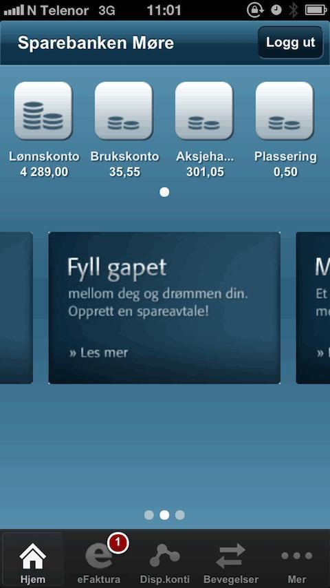 Sparebanken Møre - screenshot