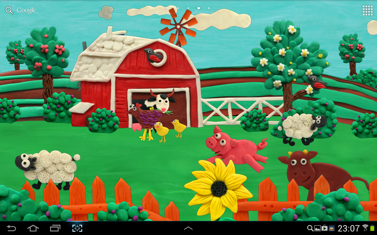 Plasticine Farm Live wallpaper - screenshot