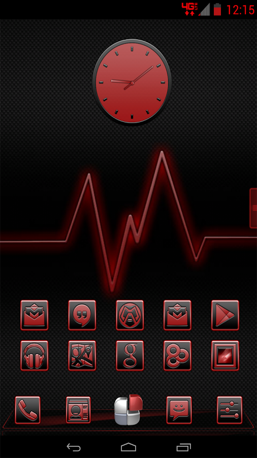 Serenity Launcher Theme Red - screenshot