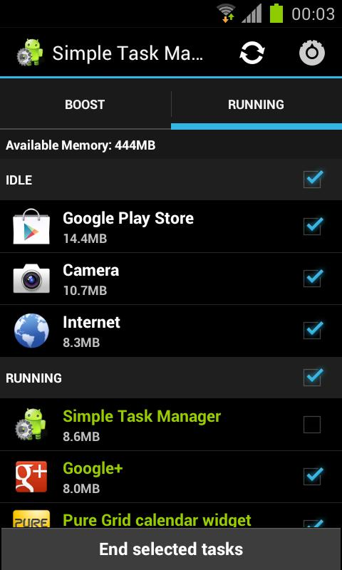 Simple Task Manager Free - screenshot