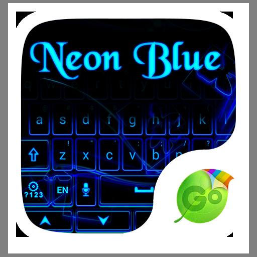 Neon Blue GO Keyboard Theme 生產應用 App LOGO-APP試玩