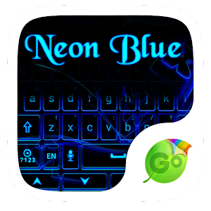 Neon Blue GO Keyboard Theme Gratis