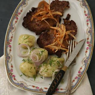 Austrian-Style Steak with Potato Salad.