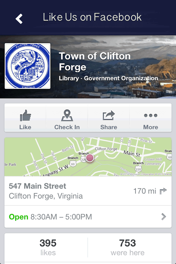 Town of Clifton Forge, Va.- screenshot