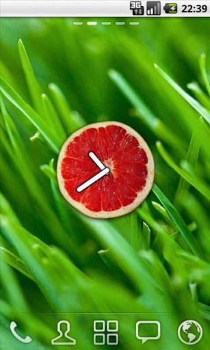 Fruit Clock Grapefruit Widget