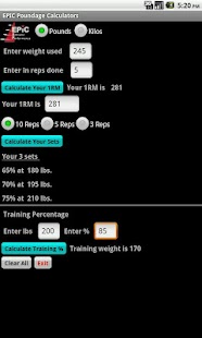 EPIC Poundage Calculator- screenshot thumbnail