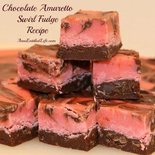 Chocolate Amaretto Swirl Fudge