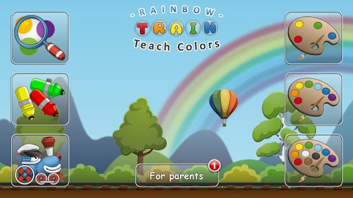 Rainbow Train: teach colors