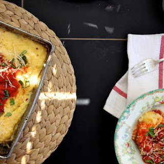 Baked Polenta with Tomato and Basil.