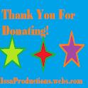 Donation $1 Issa Productions logo