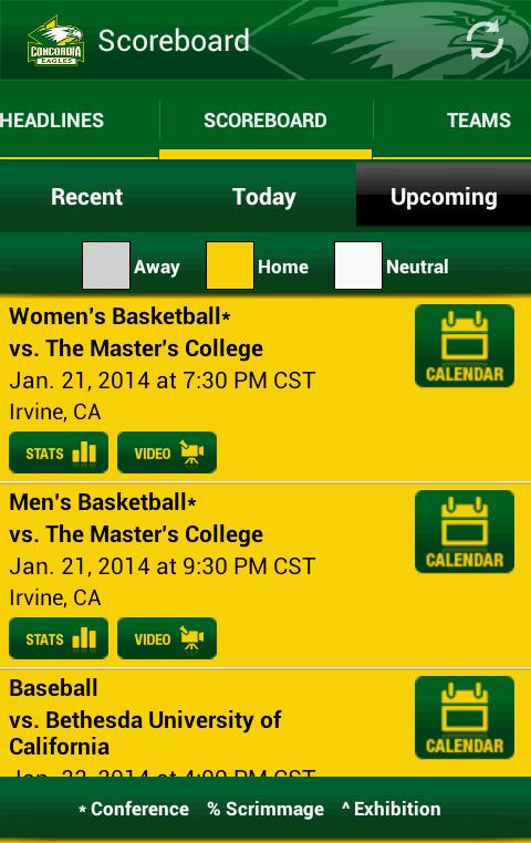 Concordia University Eagles - screenshot