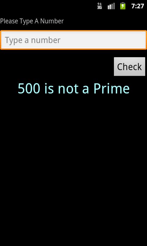 Prime Checker- screenshot
