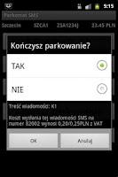 Screenshot of Parkomat SMS