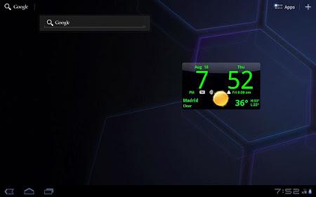 Smoked Glass Clock Widget 4.5.0 screenshot 201222