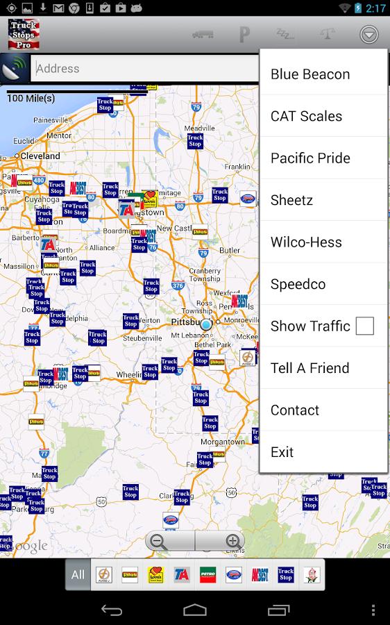Truck Stops Pro - screenshot