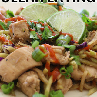 Clean Eating Thai Chicken Stir Fry.