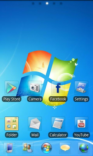 GO Launcher EX Windows 7 Style v1.0