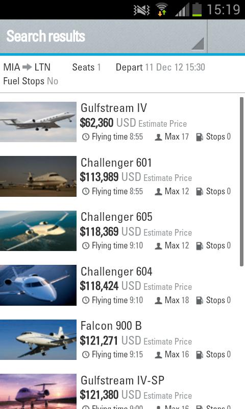 Air Charter ServiceJet Prices  Android Apps On Google Play