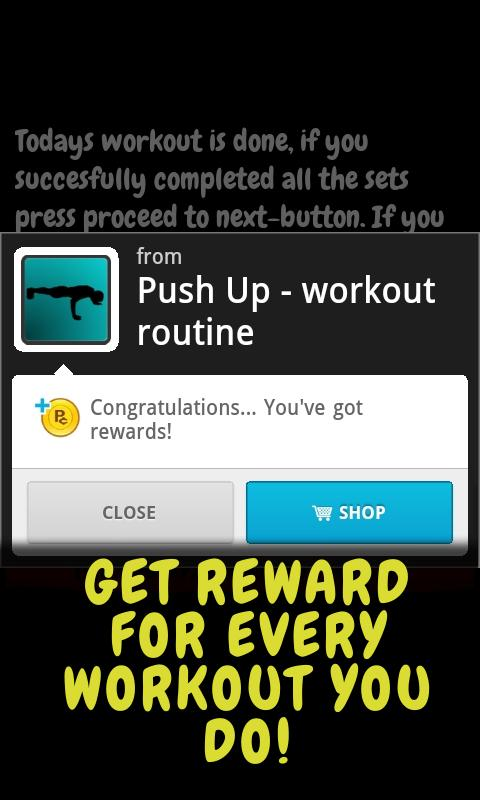 Push Up - workout routine - screenshot