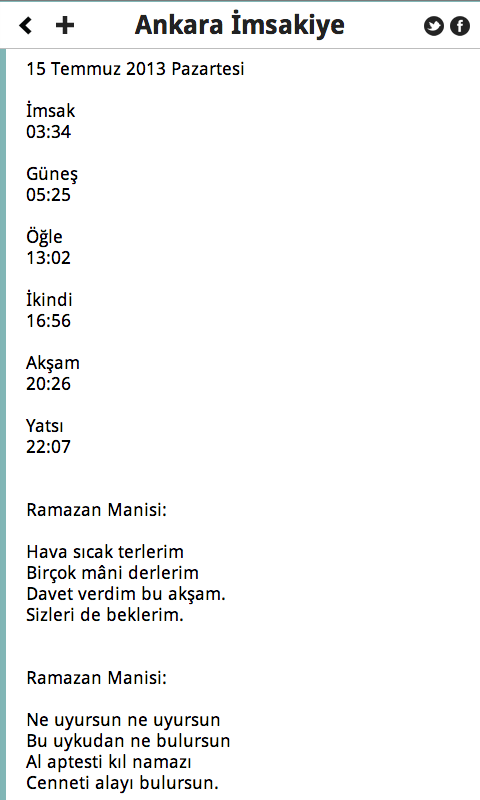 Ankara İmsakiye - screenshot