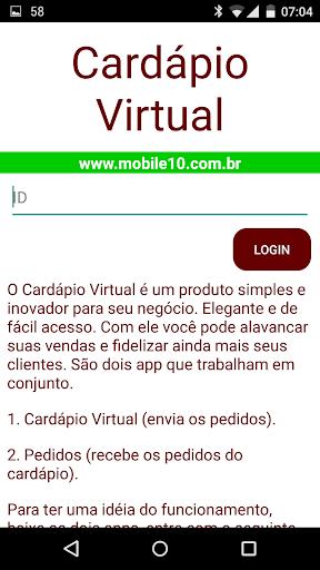 Cardápio Virtual