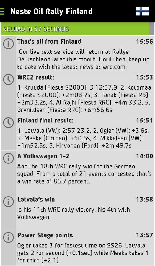 WRC – The Official App- screenshot