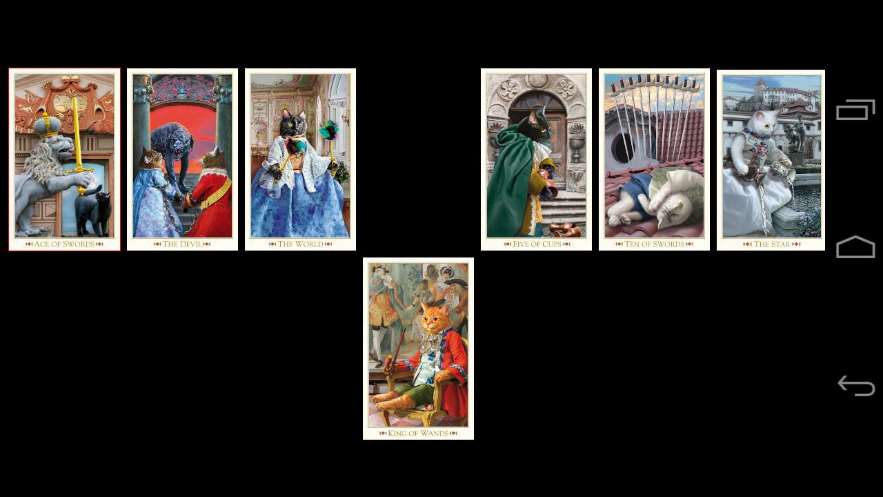 Baroque Bohemian Cats Tarot - screenshot