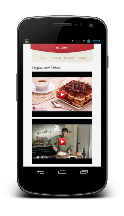 Dessert Recipes: Tiramisu - screenshot