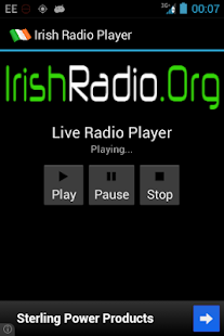 IrishRadio.Org Player- screenshot thumbnail