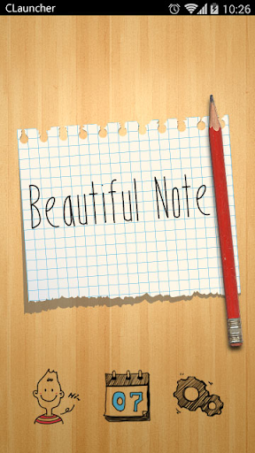BEAUTIFUL NOTE CLAUNCHER THEME