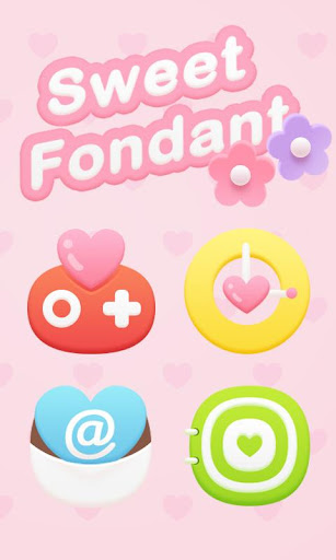 Sweet Fondant GOLauncher Theme