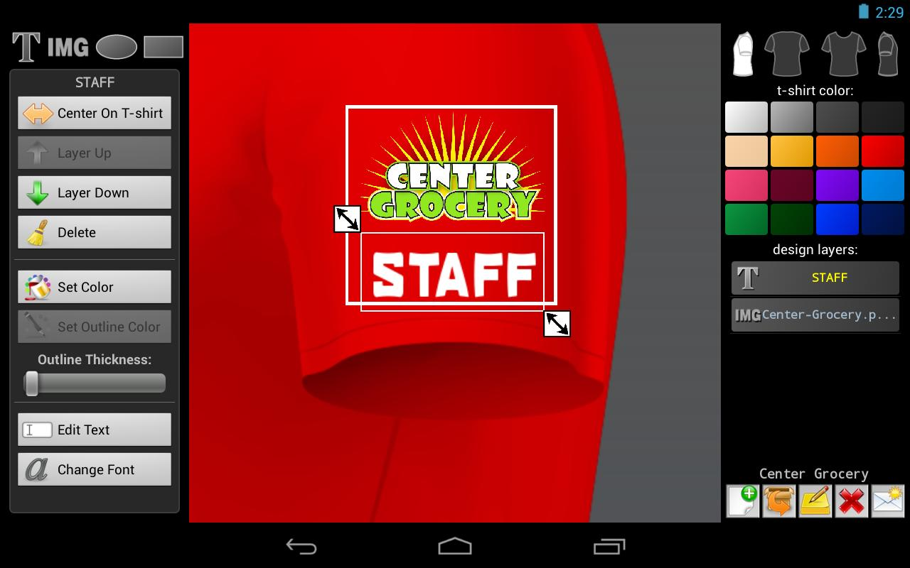 Design t shirt games online - T Shirt Designer Screenshot