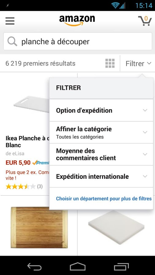 Boutique Amazon – Capture d'écran