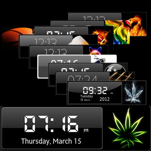 个人化の時計ウィジェット LOGO-HotApp4Game