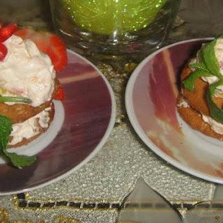 Creamy Mango with Strawberry Short Cake