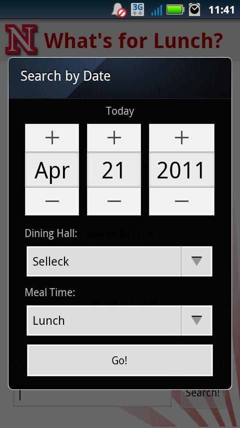 What's for Lunch? - screenshot