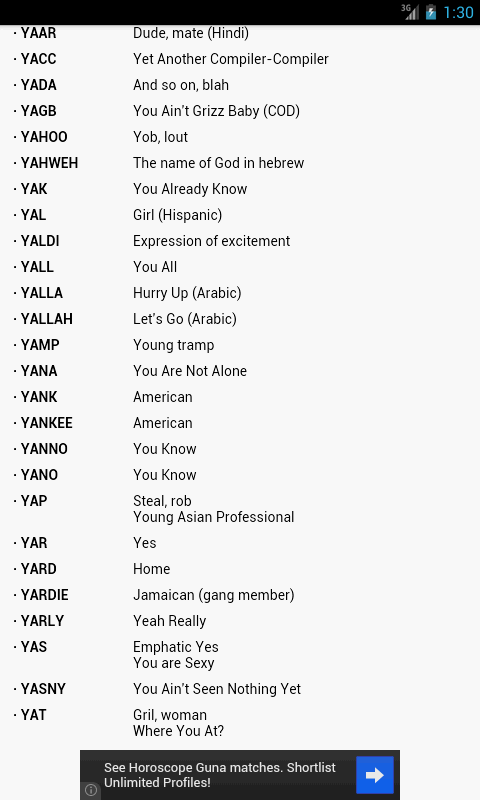 Internet Slang Dictionary - Android Apps on Google Play